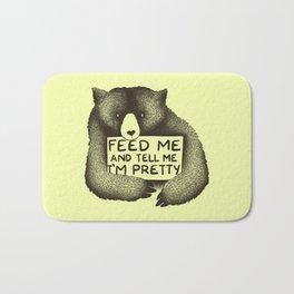 Feed Me And Tell Me I'm Pretty (Yellow) Bath Mat