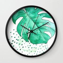 monstera monday Wall Clock