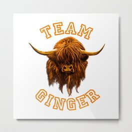 Team Ginger Metal Print