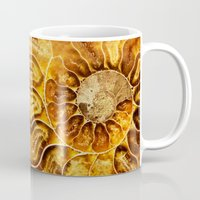 minerals Mugs featuring AMAZING AMMONITE by Catspaws
