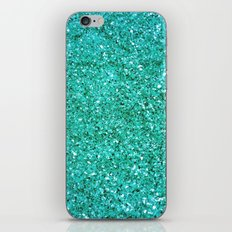 TEAL GLITTER  iPhone & iPod Skin