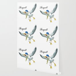 Funny seagull Wallpaper