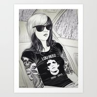 lou reed Art Prints featuring Lou Reed by IvándelgadoART