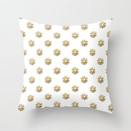 3-D Look Silver and Gold Gift Bows Throw Pillow