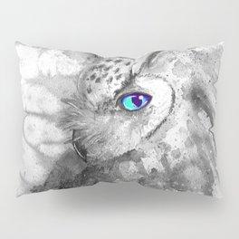 black and white: owl Pillow Sham