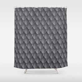 Medieval Fantasy | Metal scales  pattern Shower Curtain