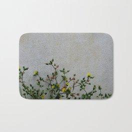 Minimal flora - yellow daisies wild flowers Bath Mat