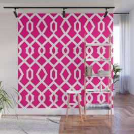 Grille No. 3 -- Magenta Wall Mural
