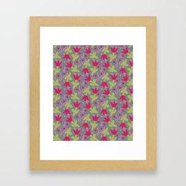 pink tulips Framed Art Print
