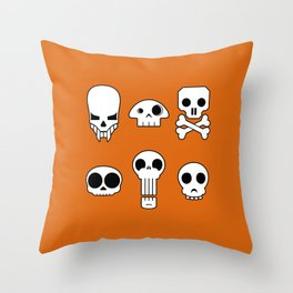 All skulls, all the time. Throw Pillow