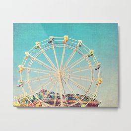 Boardwalk Ferris Wheel Metal Print