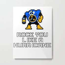 Rock you like a Hurricane Metal Print