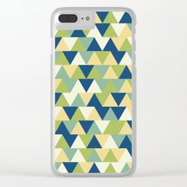 Rockpool Triangles Clear iPhone Case