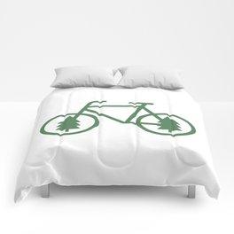 Pacific Northwest Cycling - Bike, Bicycle, Portland, PDX, Seattle, Washington, Oregon, Portlandia Comforters
