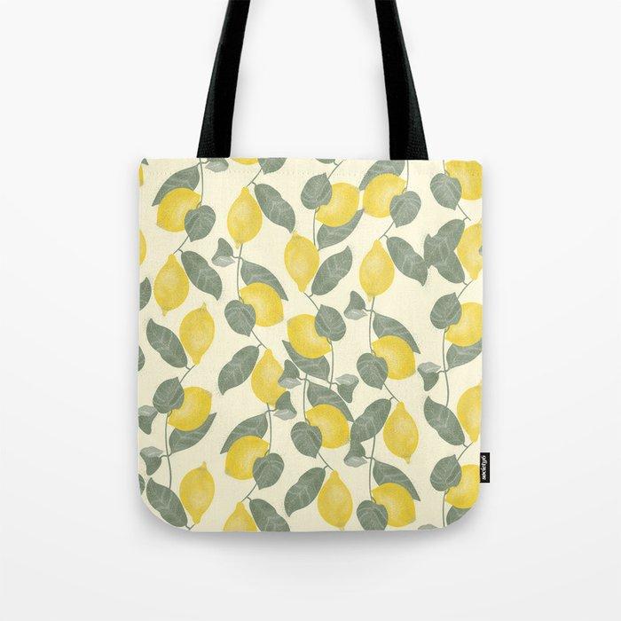 Citrus Pattern Tote Bag