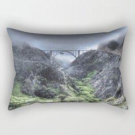 Bixby Bridge Through the Fog and Dale Rectangular Pillow
