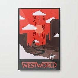Westworld Pale Rider Metal Print
