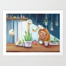 Musky Indoor Garden Art Print