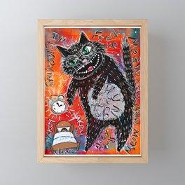 3 a.m. Monster Cat Framed Mini Art Print