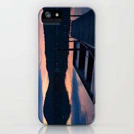 Pretty Adirondack Dawn: Jon Boat and Old Dock iPhone Case