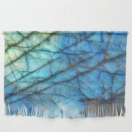Royal Labradorite Crystal Agate Gemstone Print Wall Hanging