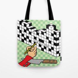 RAZOR CROSSWORD Tote Bag