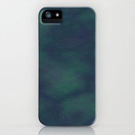 Dark blue and green marble iPhone Case
