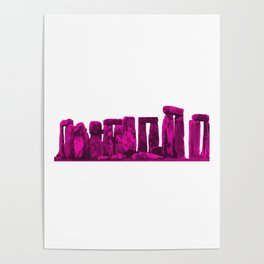 Stonehenge Magenta jGibney The MUSEUM Society6 Gifts Poster