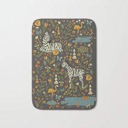 Zebras in Wild Fall Garden Bath Mat