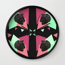 Dickface Pattern 3 Wall Clock