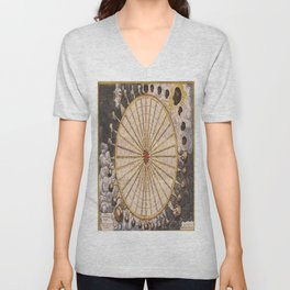 1657 Winds of the Earth by Jan Janszon Unisex V-Neck