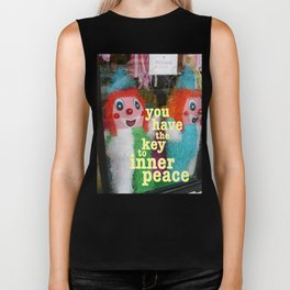 you have the key to inner peace Biker Tank