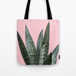 Snake plant in pink Tote Bag