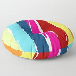 Multicolor stripes background Floor Pillow