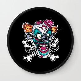 Comic - Clown Skull - dark Wall Clock