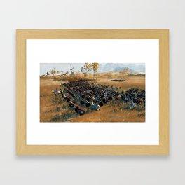Medieval Army in Battle Framed Art Print