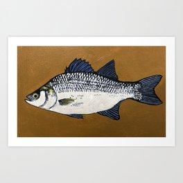 Silver Bass Art Print