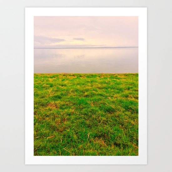 grass and water :) Art Print