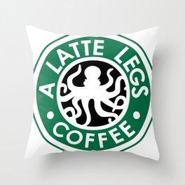 A Latte Legs :: Coffee Throw Pillow