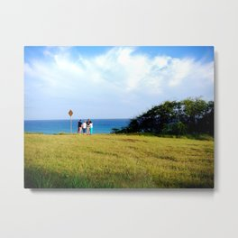Friends Enjoying the View Metal Print