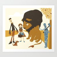 The Cowardly Lion Art Print