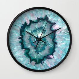 Teal Agate Wall Clock