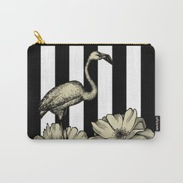 Stripe Flamingo Carry-All Pouch
