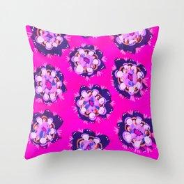 Pink Nevada Rose Throw Pillow