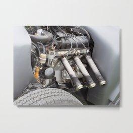 muscle - vintage hotrod engine Metal Print