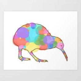 Kolorful Kiwi Art Print