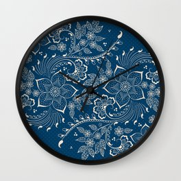 Vintage Floral Elements II Wall Clock
