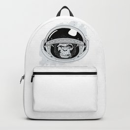 Monkey in white space Backpack