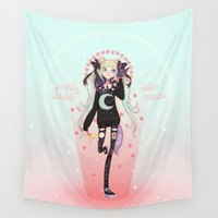 winter soldier Wall Tapestries featuring ☽ Pretty Soldier ☾ by ♡ SUSHICORE ♡