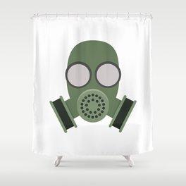 Army Gasmask Shower Curtain